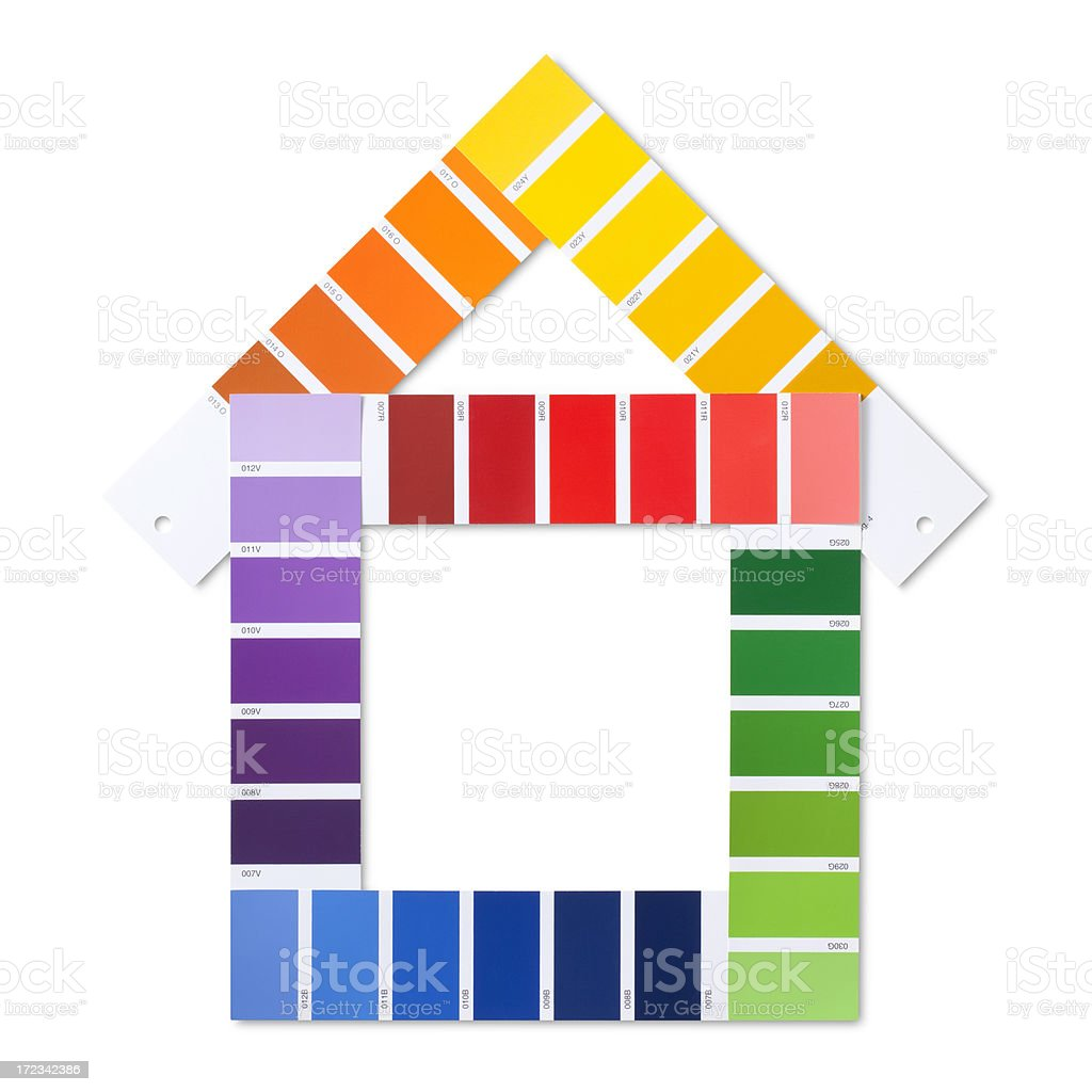 Color card in the shape of house royalty-free stock photo