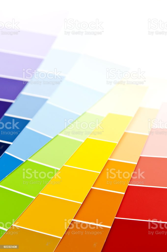 Color card paint samples royalty-free stock photo
