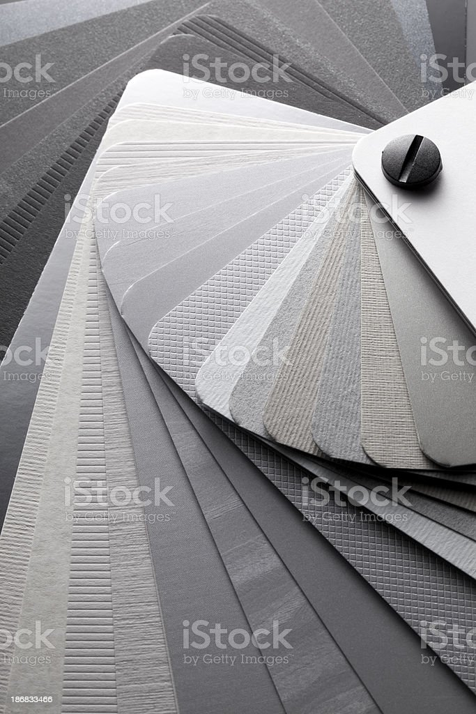 Color card. Shades of gray. stock photo