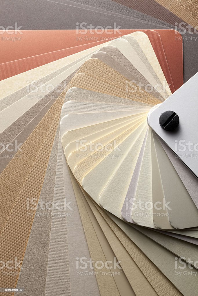 Color card. Warm tones. royalty-free stock photo