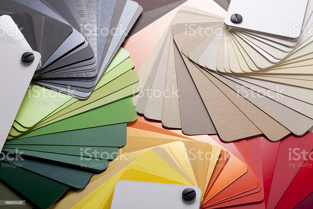 Color cards stock photo