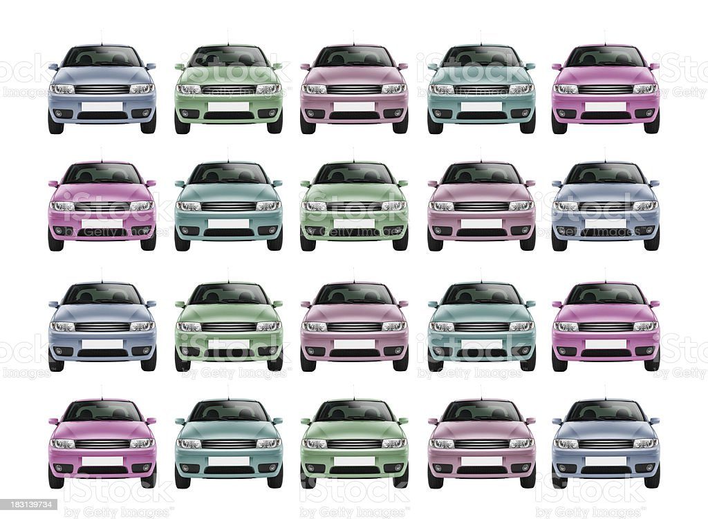 Color Cars royalty-free stock photo