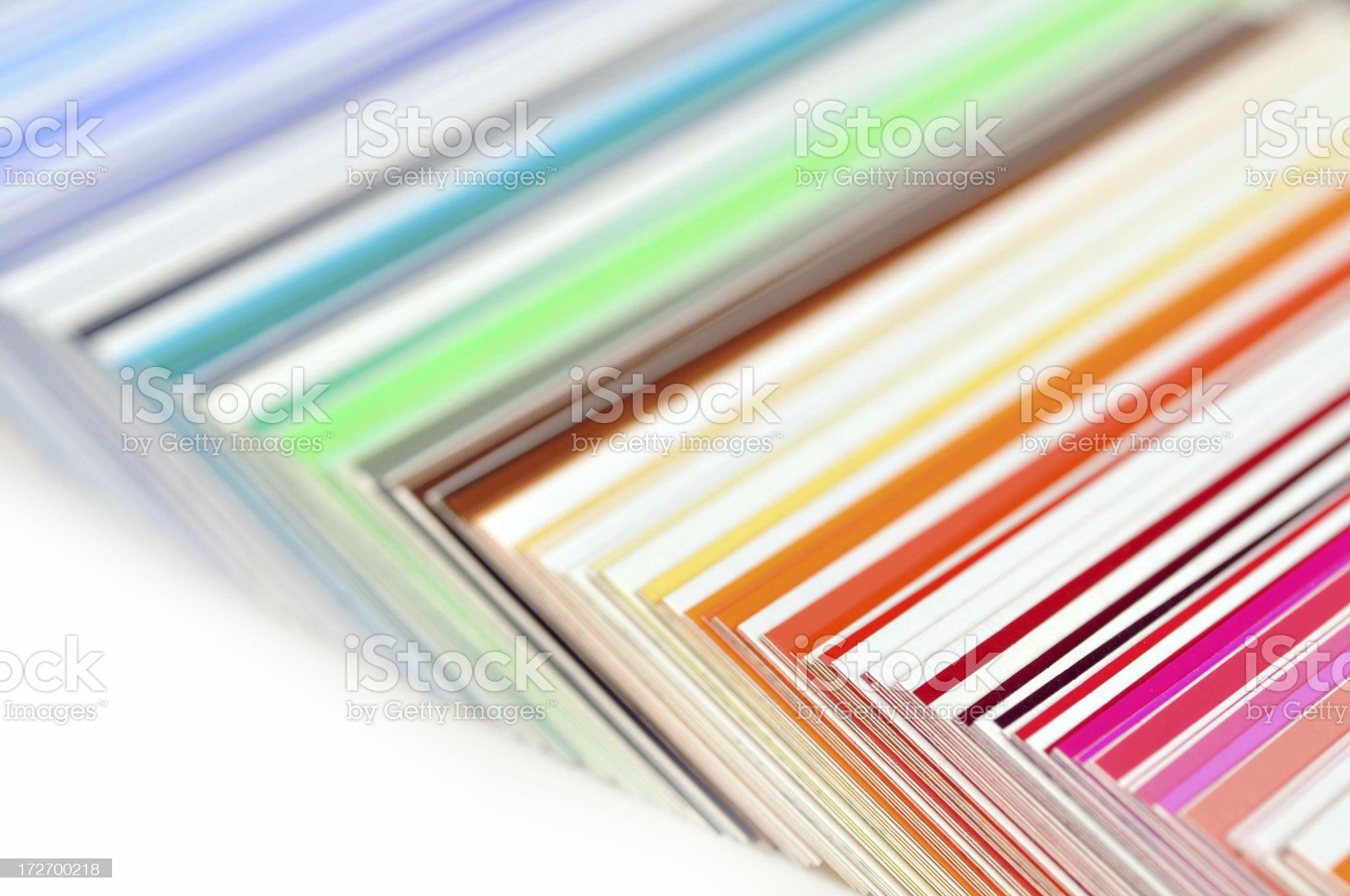 Color catalog royalty-free stock photo