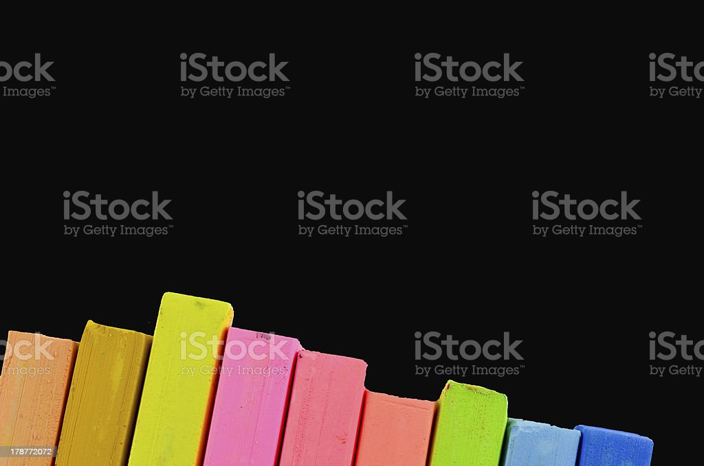 Color chalk pastels isolated royalty-free stock photo
