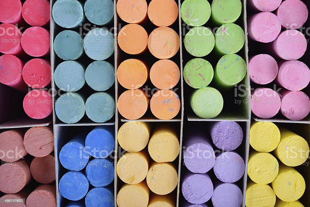 color chalk royalty-free stock photo