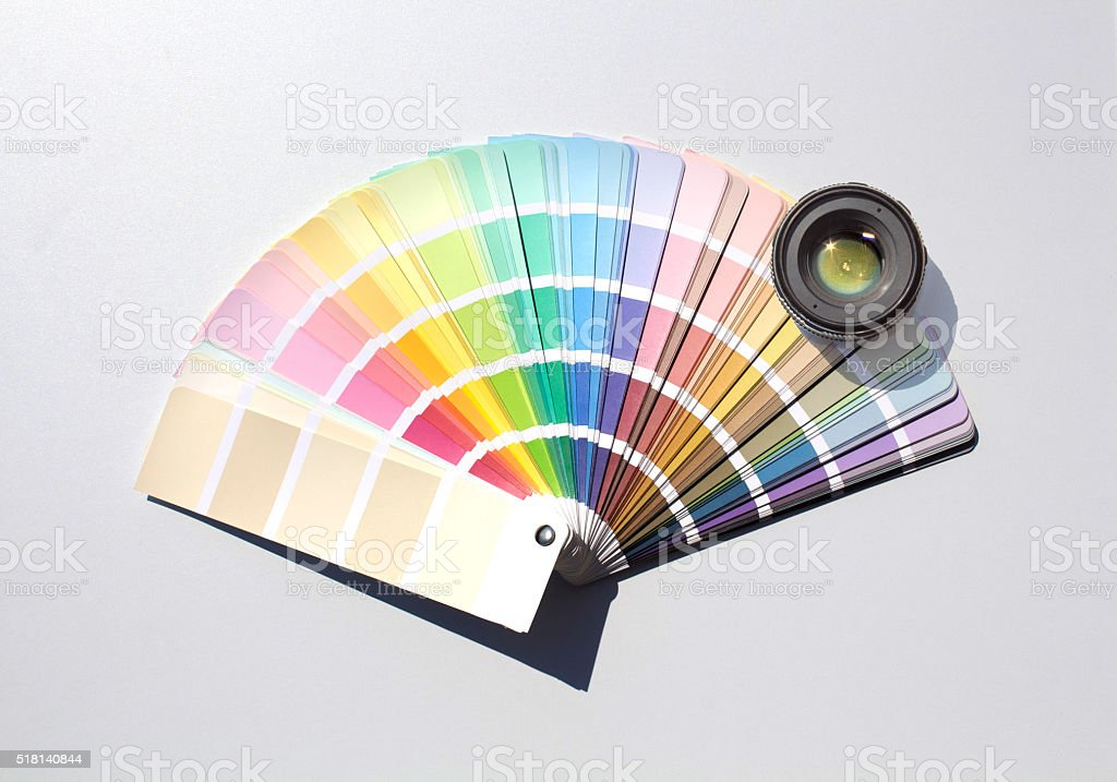 Color Chart and Densitometry stock photo