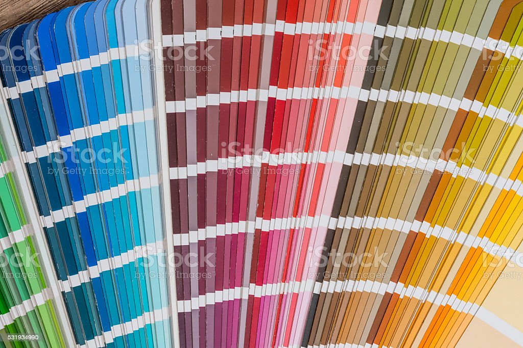 Color chart guide stock photo