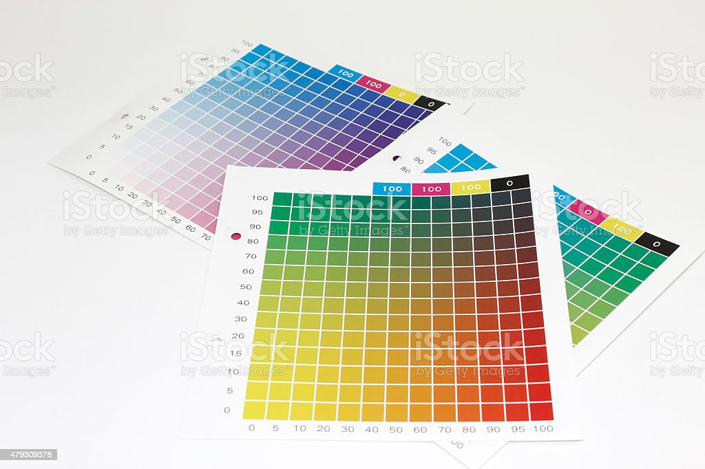 Color chart (for printing) stock photo