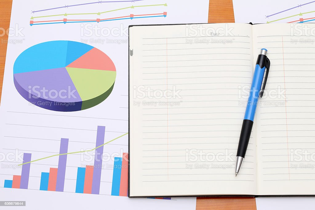 Color chart printed documents stock photo