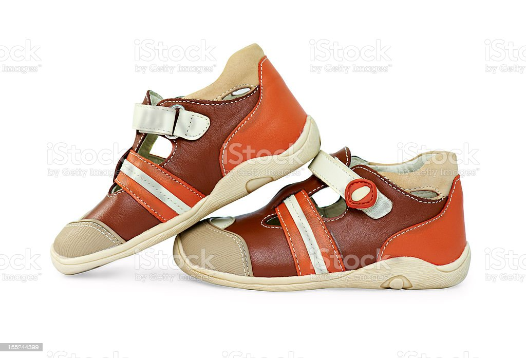 Color children's shoes royalty-free stock photo