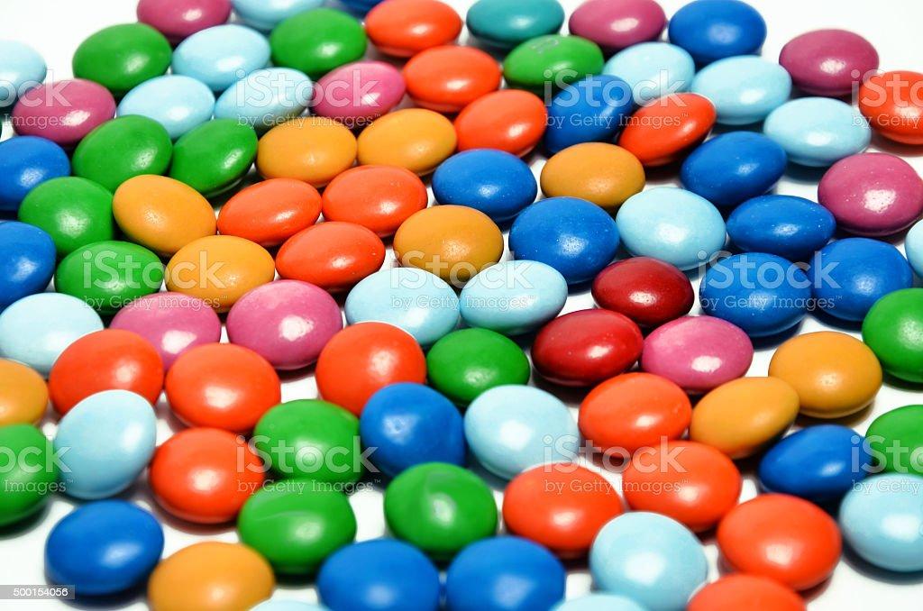 Color chocolates royalty-free stock photo