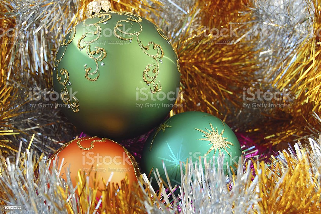 color Christmas balls royalty-free stock photo