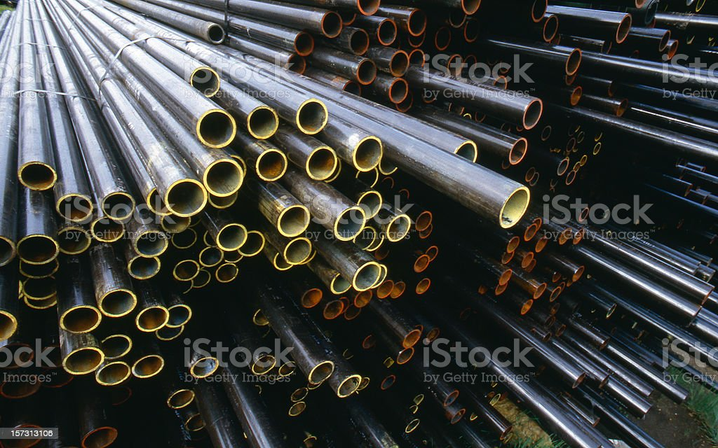 Color Coded Pipe Ends royalty-free stock photo