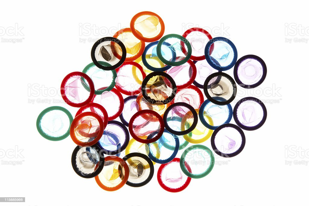 Color Condoms #5 stock photo