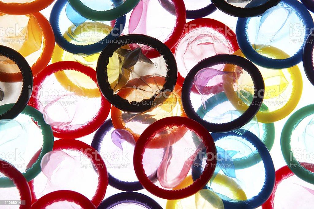Color Condoms #9 stock photo