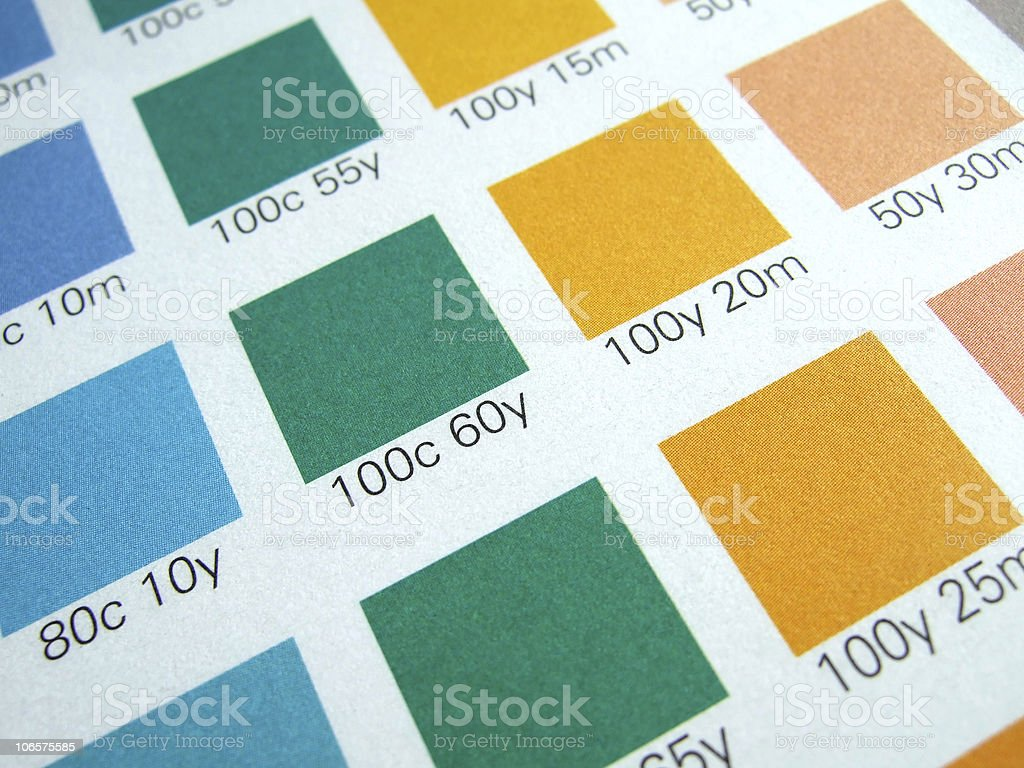 CMYK color control stock photo