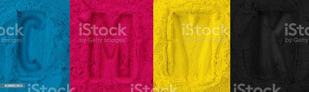 Color copier toner stock photo