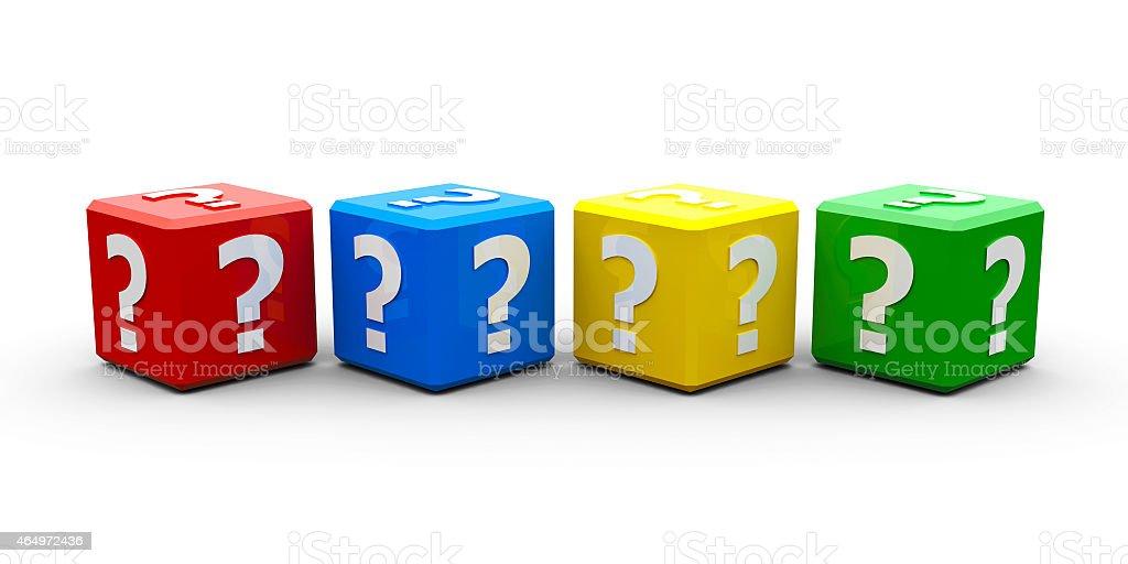 Color cubes question stock photo