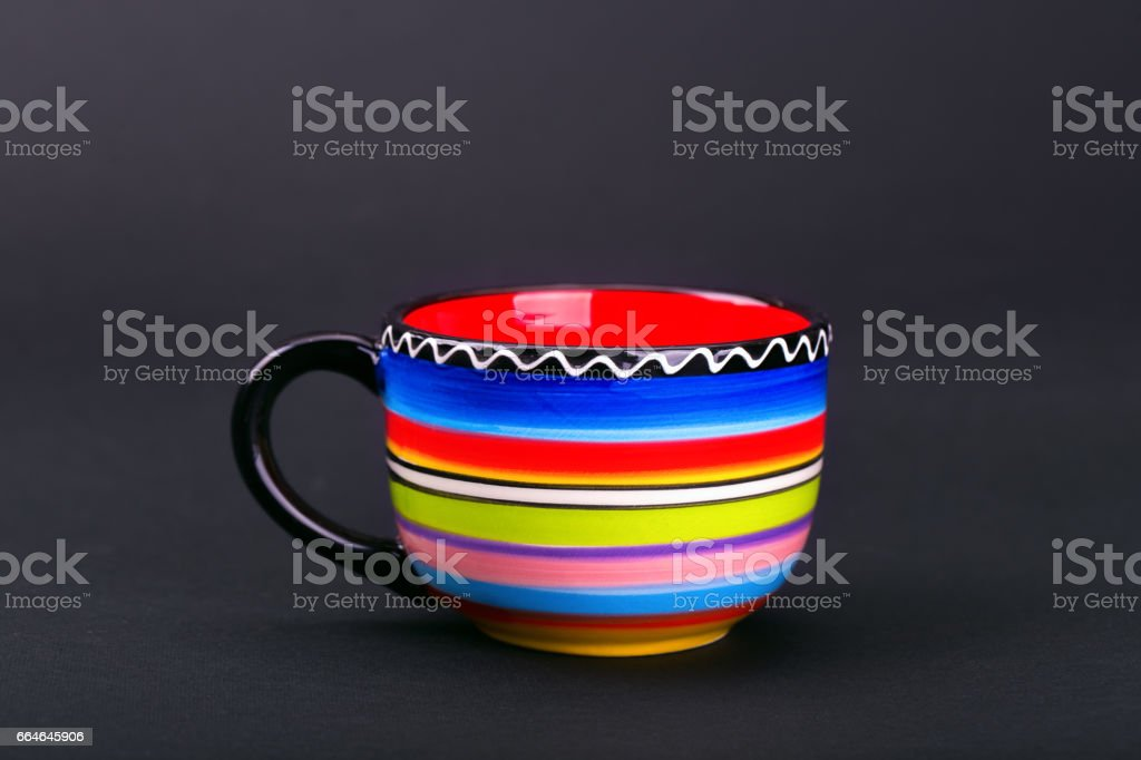 Color cup stock photo