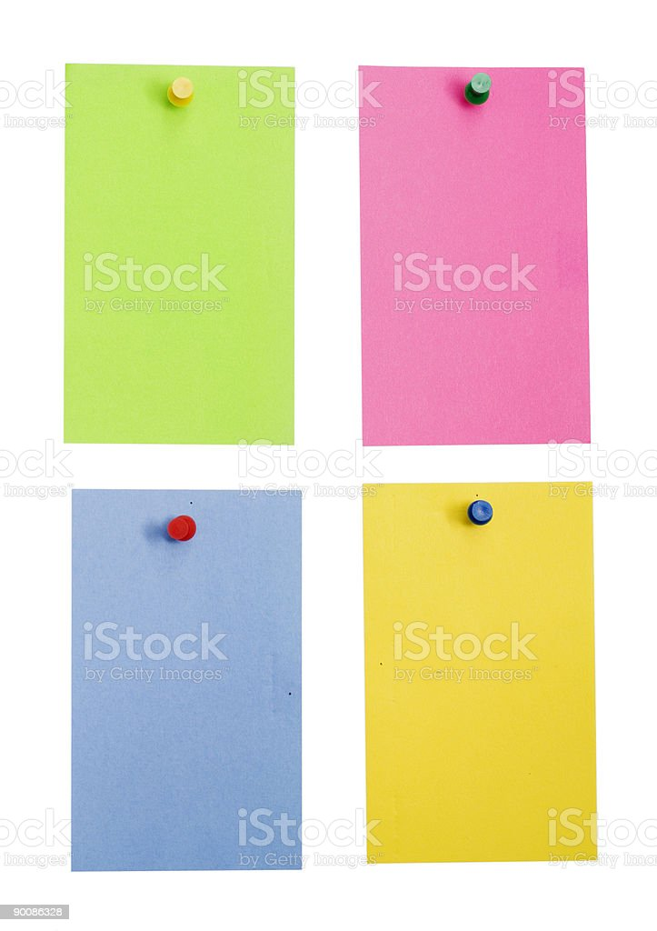 color empty notes royalty-free stock photo