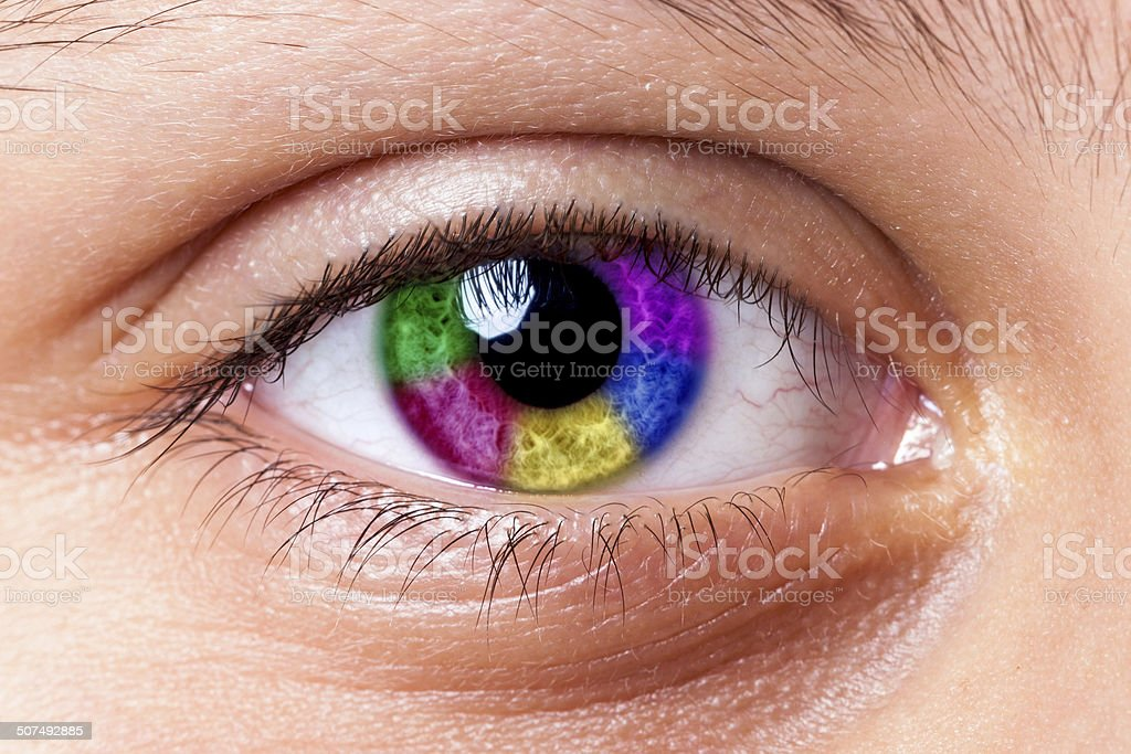 Color Eye royalty-free stock photo