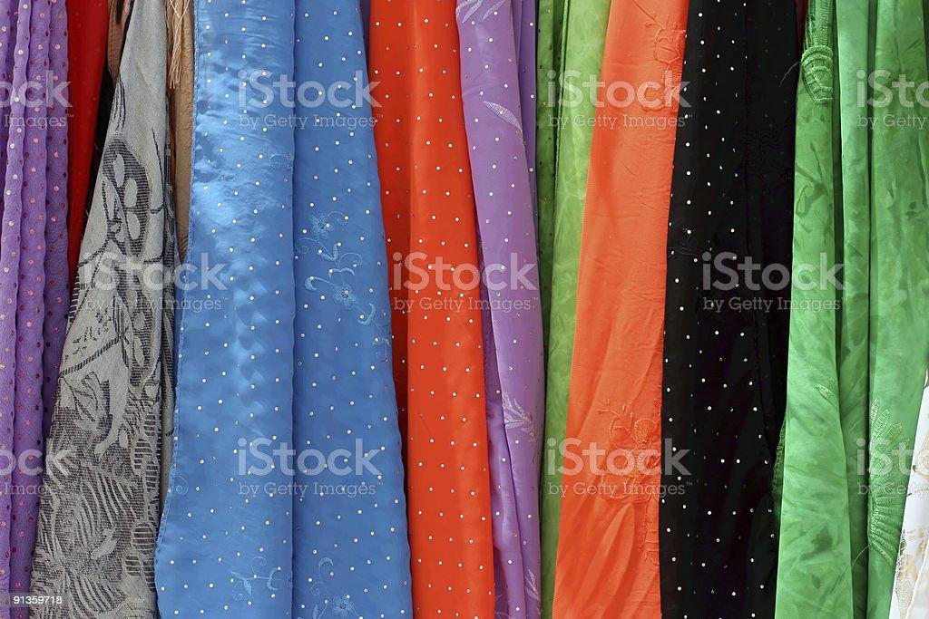 color fabrics royalty-free stock photo