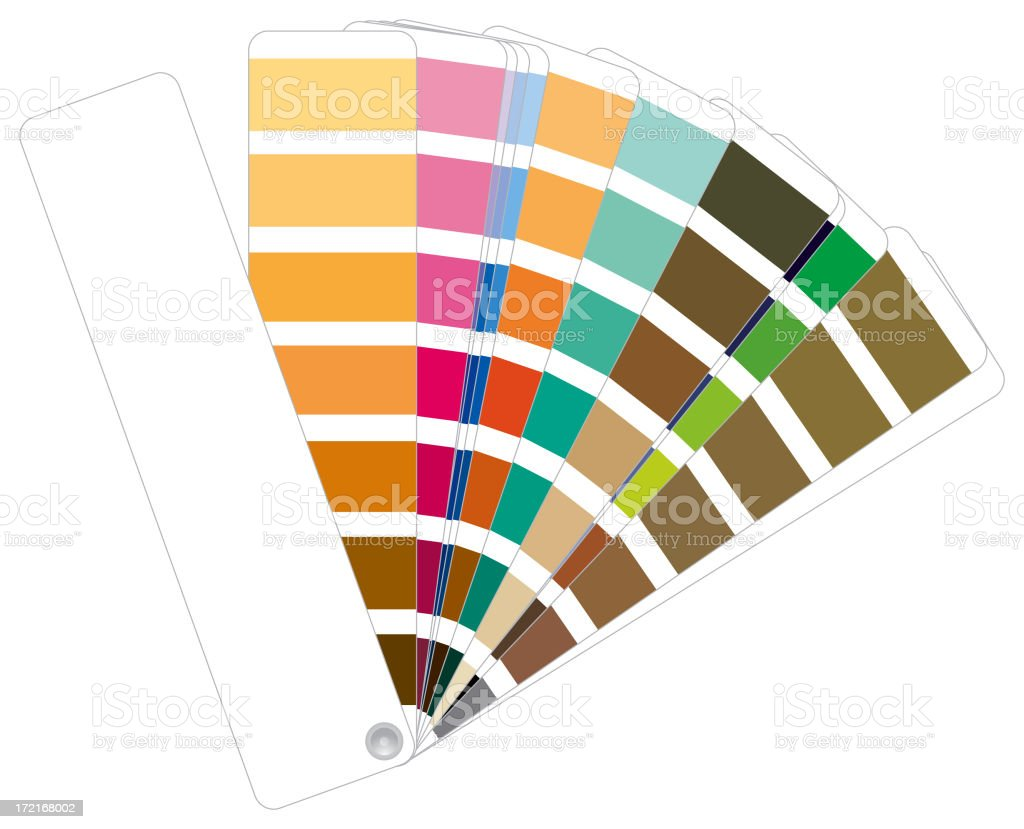 Color fan stock photo