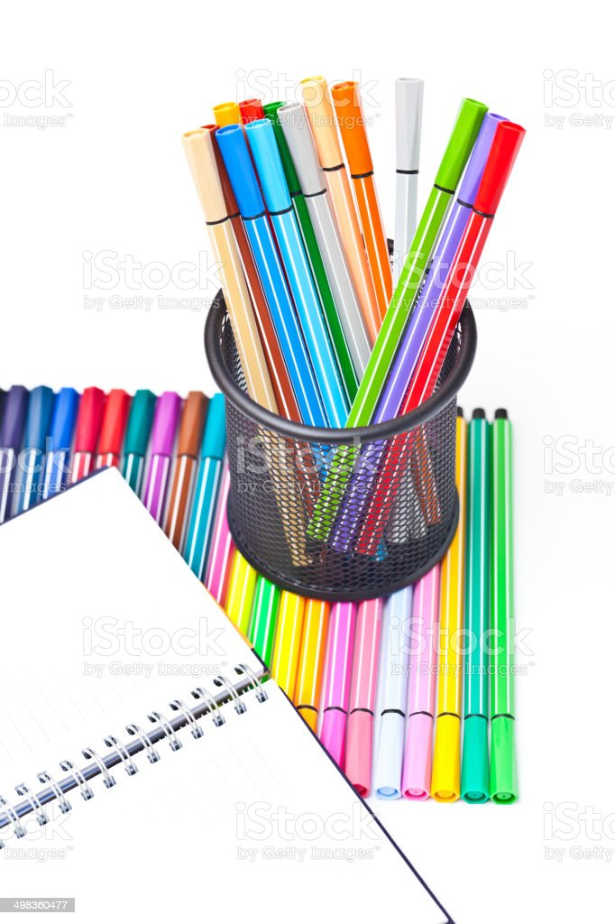 Color felt-tip pen royalty-free stock photo