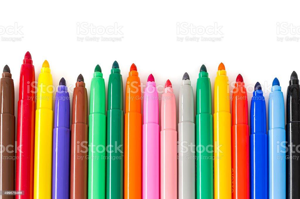 Color felt-tip pen stock photo
