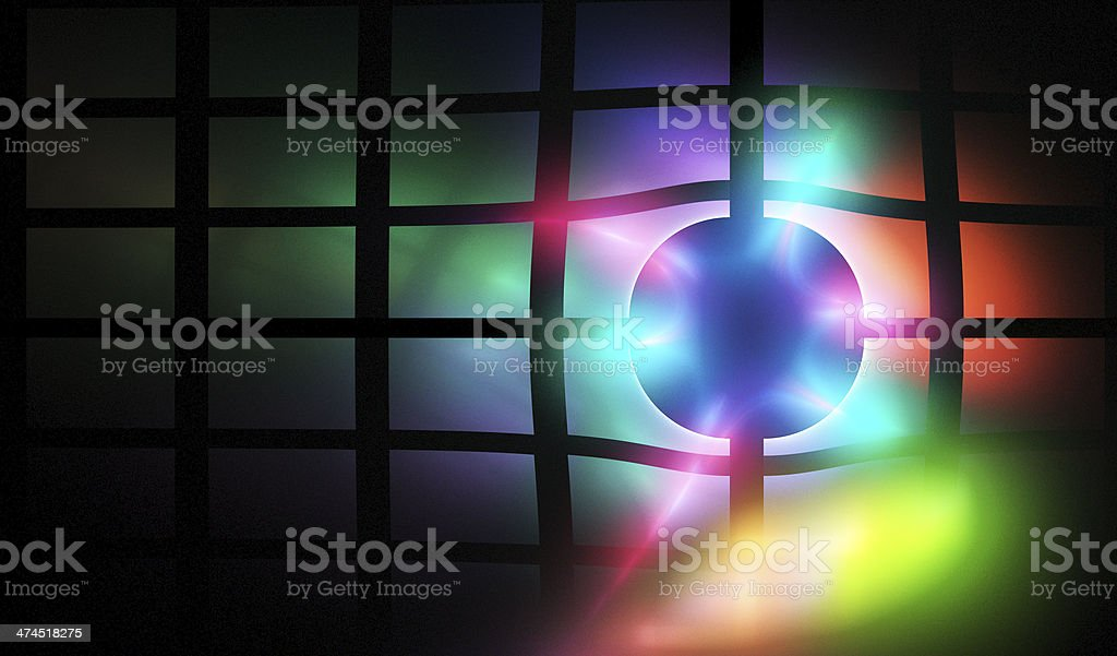 Color flash on grid stock photo
