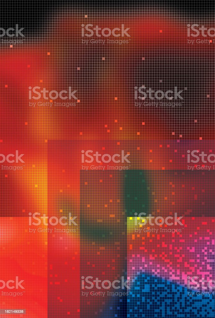 Color Flower Grid royalty-free stock photo