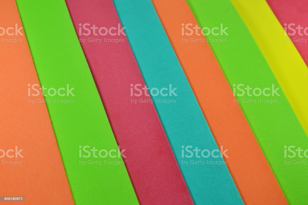 color foam rubber board stacking stock photo