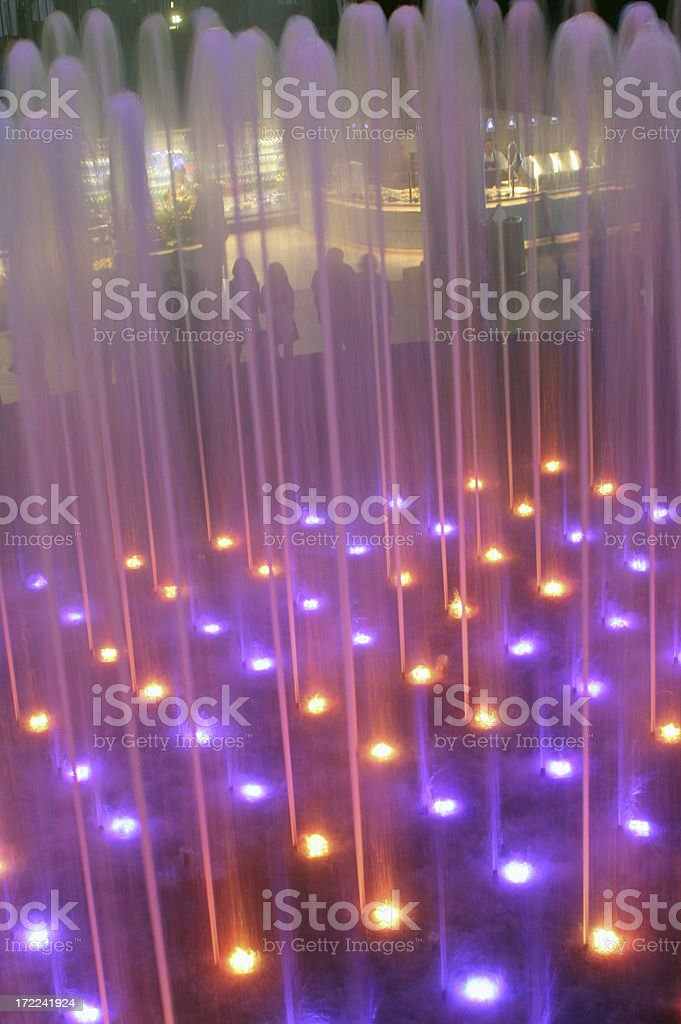 Color fountain in the shopping mall royalty-free stock photo