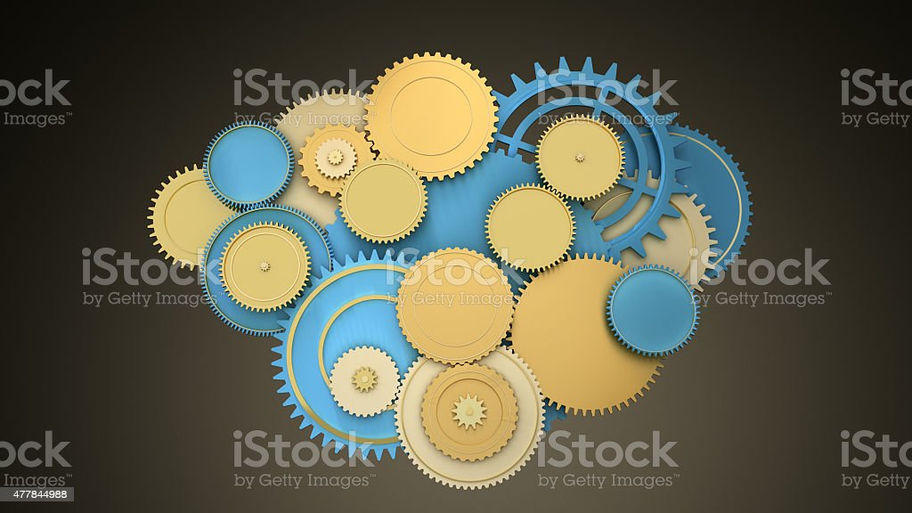 color gears stock photo