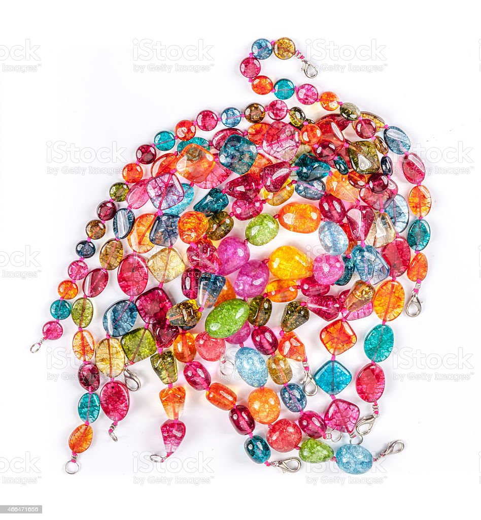 color glass beads stock photo