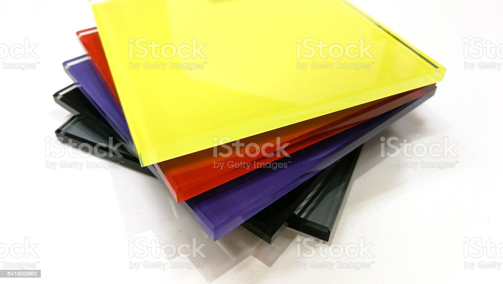 color glass material stock photo