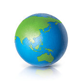 Color globe 3D illustration Asia & Australia map
