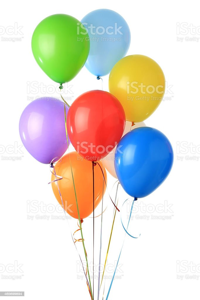Color glossy balloons stock photo