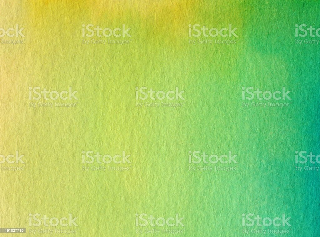 Color gradient with green and yellow colors on paper vector art illustration