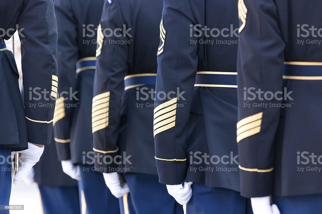 Color Guard in Formation stock photo