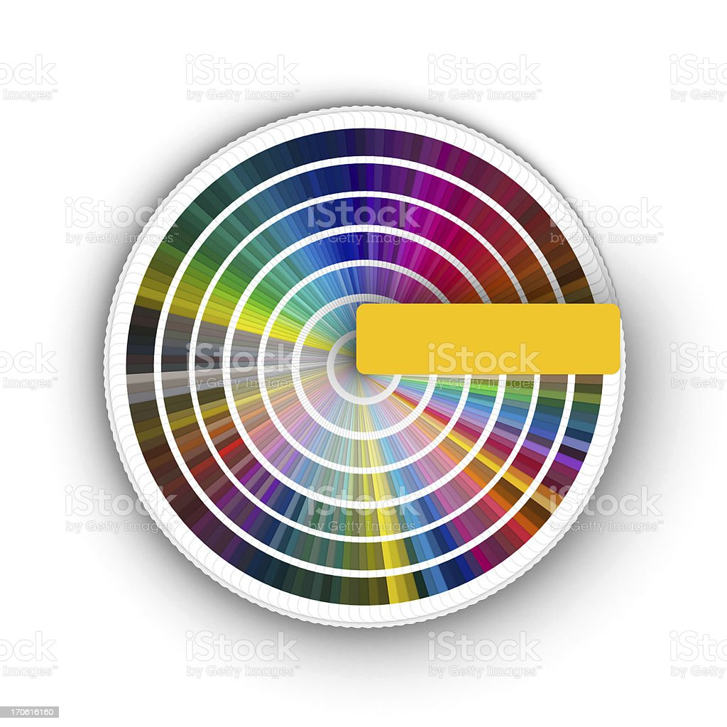 Color guide 360º (3D) royalty-free stock photo