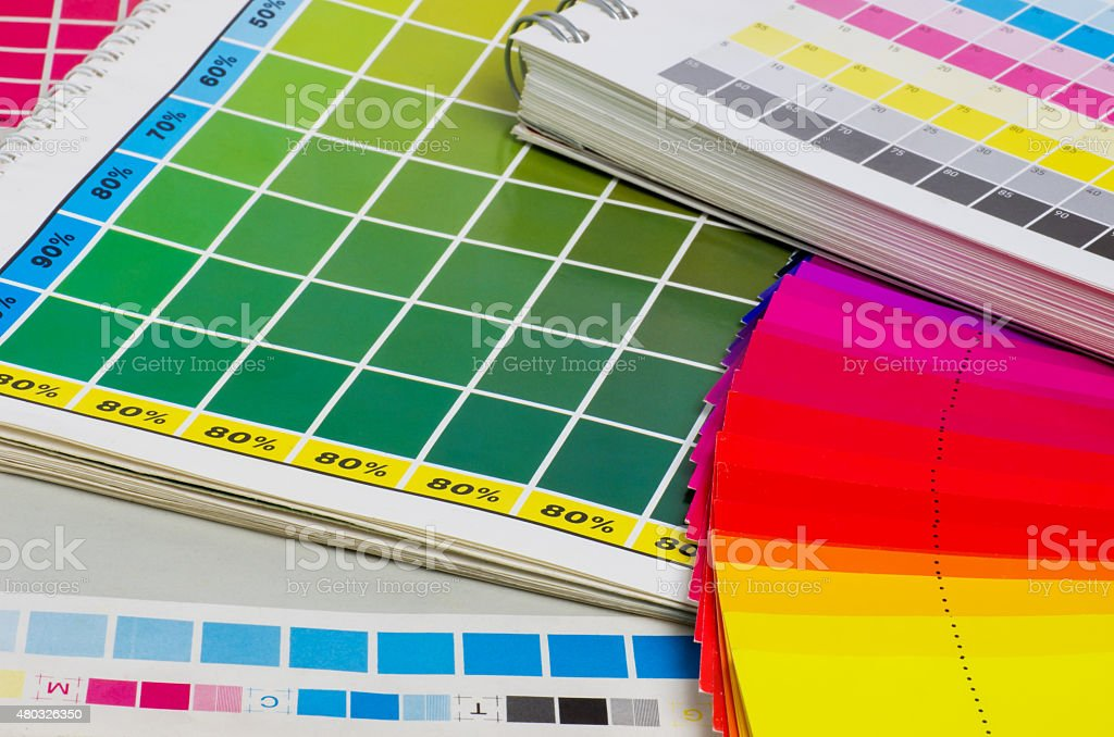 color guide and color fan stock photo