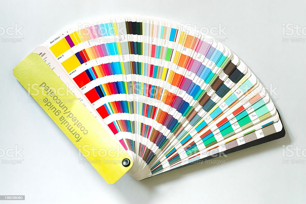 Color guide fan stock photo