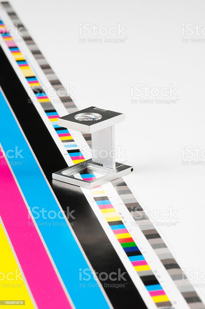 A color guide for printer inks stock photo