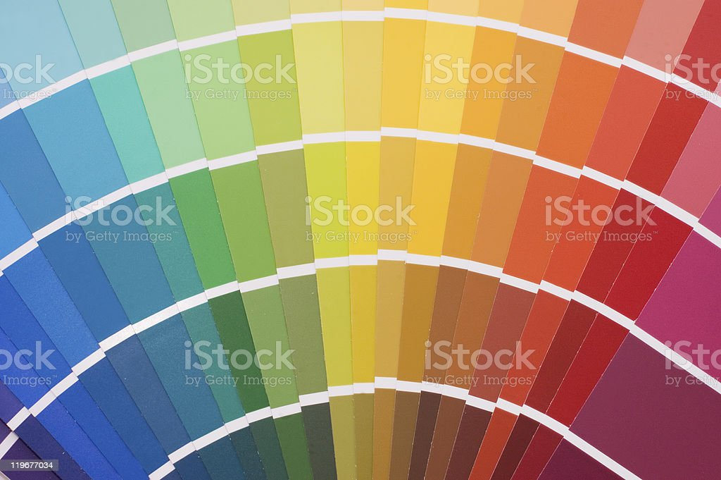 Color guide for selection stock photo