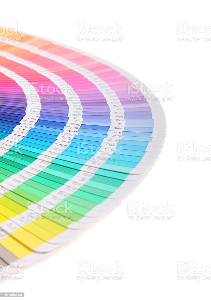 Color guide on white royalty-free stock vector art