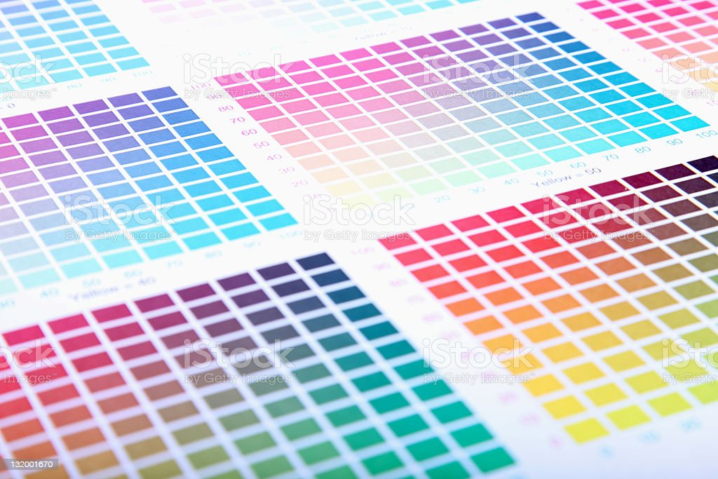 Color guide royalty-free stock vector art
