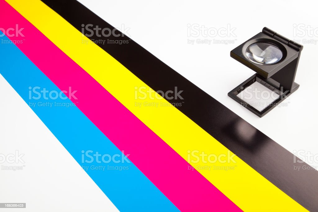 CMYK color guide stock photo