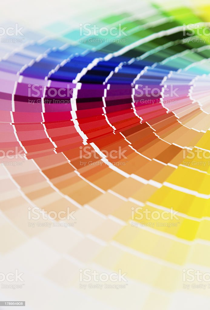 Color guide royalty-free stock photo