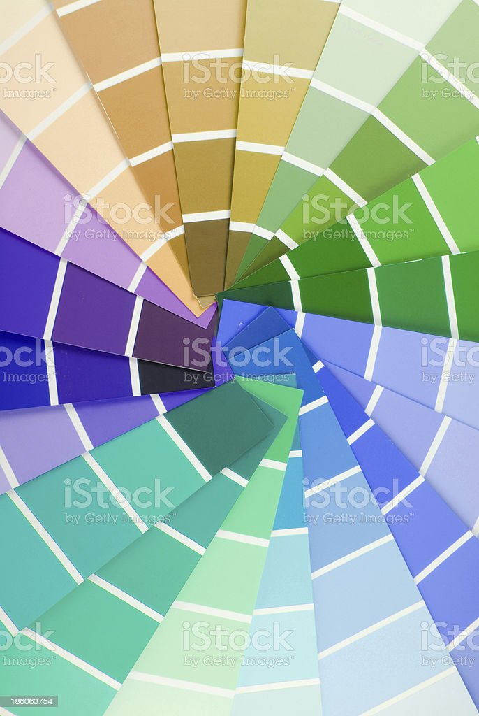color guide sampler royalty-free stock photo